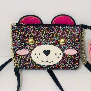 NEW Betsey Johnson Confetti Bear Crossbody Bag